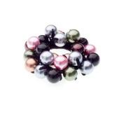 Caravan Mixed Metlaized Beads Highlights This Wonderful Eye Stopper Elastic Ponytail