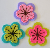 Tamara Felt Flower Hair Clip Set