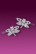 Rhinestone Dragonfly Hair Barreette for Girls, Youth or Women