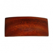 Hawaiian Koa Wood Large Rectangle Hair Clip Barrette From Hawaii