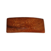 Hawaiian Koa Wood Small Rectangle Hair Clip Barrette From Hawaii