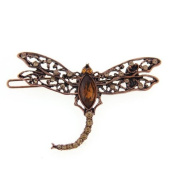 Dragonfly Copper Tone Barrette