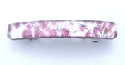 Light Purple Silver Venetian Murano Glass Hair Barrette