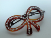 Charles J. Wahba - Bow Shaped Barrette with. Rhinestones