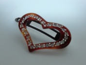 Charles J. Wahba - Heart Shaped Barrette with. Rhinestones