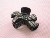 Black Rhinestone Fashion Plastic Hair Claw Accessories
