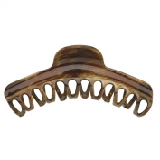 Brown Brushed Large Curved Claw Clip, 12.1cm