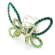 DoubleAccent Hair Jewellery Impressionist Crystal Butterfly Hair Jaw Green Colour