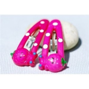 Decorative Hairclips - Pink