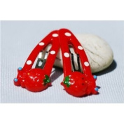 Decorative Hairclips - Red