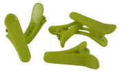 Plastic Lime Green MINI Hair Clips Single Prong Alligator Teeth Barrette Snap Pinch Beauty Supplies Puppies
