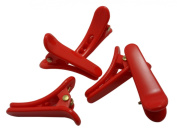 Plastic Red MINI Hair Clips Single Prong Alligator Teeth Barrette Bows Girl Pinch Salon Supplies Puppies