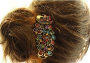Lovely Vintage Jewellery Crystal Peacock Hair Clips - for hair clip Beauty Tools