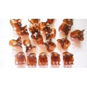 20 Pcs Brown Mini Hair Snap Claw Clip Size 13 Mm