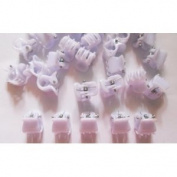 20 Pcs Whiite Mini Hair Snap Claw Clip Size 10 Mm