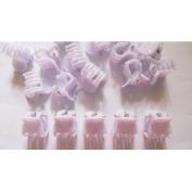 20 Pcs White Mini Hair Snap Claw Clip Size 13 Mm
