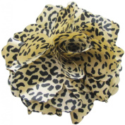 Fluerettes Animal Print Flower 1/Pkg-Cheetah-Beige, Black