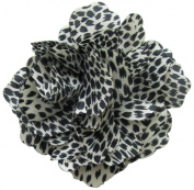 Fluerettes Animal Print Flower 1/Pkg-Jaguar-Black; White