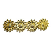 4 Goldplated Sunflowers Hair Clip