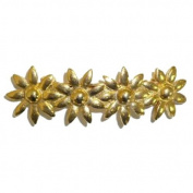 Goldplated Flowers Hair Clip