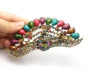 Fashion Vintage Jewellery Crystal Peacock Hair Clip E-for hair clips Beauty Tools