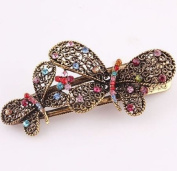 Lovely Vintage Jewellery Crystal Butterfly bowknot Hairpins Hair stick - for hair Beauty Tools