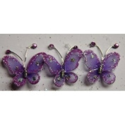 Gift Square 2.5cm Organza Butterfly Clip Wedding Favour 20 Pack - Lavender