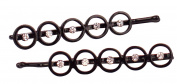 Karina Five Circles Bobby Pins, Black