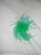 Touch of Nature 40333 Ostrich/Fluffy Clip Embellishment, Kelly Green