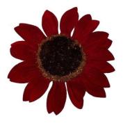 Sunflower Artificial Flower Hair Clip/Pin Brooch, Red