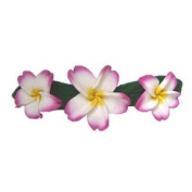 Hawaiian Plumeria Flower Poly Clay Barrette - BHC1
