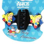 """Pair of hair clip """"Alice Au Pays Des Merveilles"""" black."""