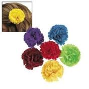 FIESTA FLOWER HAIR CLIPS (1 DOZEN) - BULK