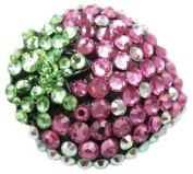 Vibrant Rhinestone Strawberry Shaped Hair Clip