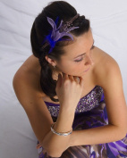 Whimsical Purple Beaded Headband