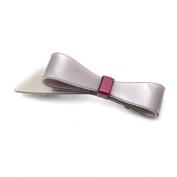 [Aznavour] Lovely & Cute Colour Ribbon Hair Pin / Grey #PP1408G.