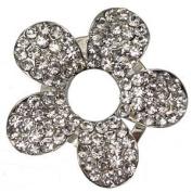 PIERIS Silver Crystal Scarf Clip