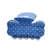 [Aznavour] Lovely & Cute Denim Mini Ribbon Claw Hair Pin / White #CLdmp467.