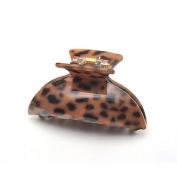 [Aznavour] Lovely & Cute Leopard Kia Claw Hair Pin / Dark Brown #CLdmp413.