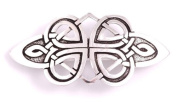 St Justin, Pewter Bow Hair-Slide