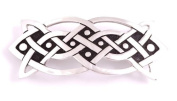 St Justin, Pewter Oblong Knot Hair-Slide