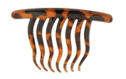 Caravan Contemporary Seven ( 7) Tooth French Twist Comb With Wavy Teeth In Tokyo Colour