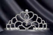 Crystal Rhinestone Bridal Wedding Tiara 5.7cm Crystal/Silver, TIA-1011