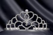 Crystal Rhinestone Bridal Wedding Tiara 5.7cm Crystal/Silver, TIA-1011