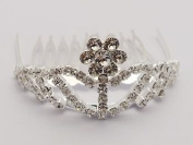 Elegant Faux Rhinestone Tiara Hair Comb for Wedding, Prom, Pageant, Quinceañera or Other Special Event