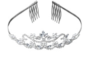 Flower Pearl Bridal Wedding Tiara Crystals Rhinestones Crown Prom Party T0082