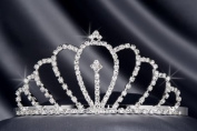 Crystal Rhinestone Bridal Wedding Tiara 6cm Crystal/Silver, TIA-1010