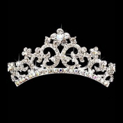 Bridal Wedding Jewellery Crystal Rhinestone Beautiful Floral Small Hair Tiara Comb