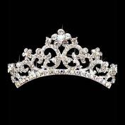 Bridal Wedding Jewellery Crystal Rhinestone Beautiful Floral Small Hair Tiara Comb