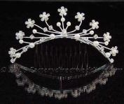 Nina Faux Crystal Comb Hair Jewellery for Wedding, Prom, Pageant, Quinceañera or Other Special Events.